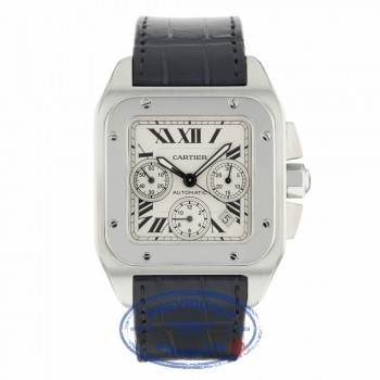 Cartier Santos 100 XL Chronograph Stainless Steel W20090X8 1CY7R9 - Beverly Hills Watch Company