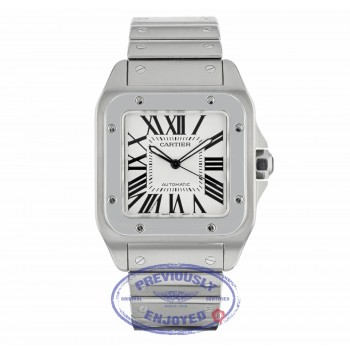 Cartier Santos 100 Large Stainless Steel W200737G P0F1LW - Beverly Hills Watch