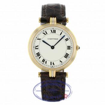 Cartier Vendome Large Tri-Color White Dial Black Roman Quartz 30mm 1MHZ7C - Beverly Hills Watch
