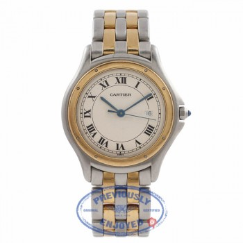 Cartier Vendome White Dial Stainless Steel and 18K Yellow Gold W187904 46VIVN - Beverly Hills Watch Store