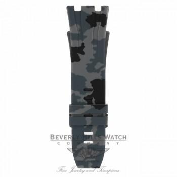 Horus Graphite Camouflage Rubber Audemars Piguet 44mm Strap 3CLR5Y - Beverly Hills Watch