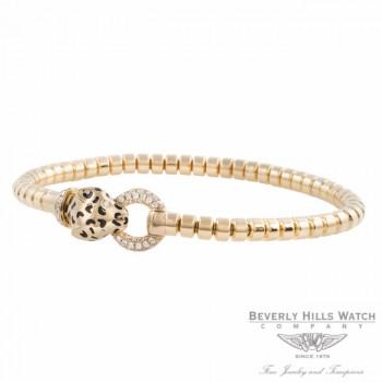 Naira & C 18k Yellow Gold Enamel and Diamonds Panther Bracelet OM-CCMI0265/400/E/B-Y FZQRJ9 - Beverly Hills Watch Company Jewelry