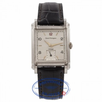 Girard Perregaux Gents Vintage 94 Cream Dial Stainless Steel 2550 14804 - Beverly Hills Watch Company Watch Store