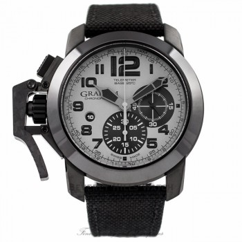 Graham Chronofighter Oversize 47MM Stainless Steel PVD Grey Dial 2CCAU.S01A 4JC2P5 - Beverly Hills Watch Company Watch Store