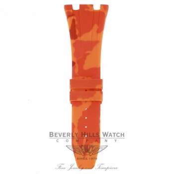 Horus Orange Camouflage Rubber Audemars Piguet 42mm Strap 0WPFE6 0WPFE6 - Beverly Hills Watch Company