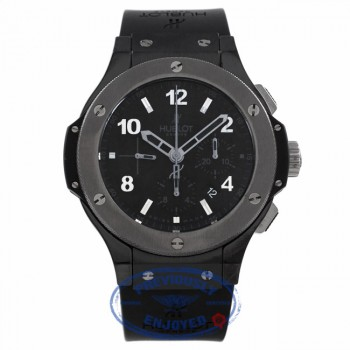 Hublot Big Bang Ice Bang 44MM Chronograph Black Ceramic Case and Bezel Rubber Strap 301.CT.130.RX VH9D8H - Beverly Hills Watch Company Watch Store
