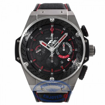 Hublot Big Bang King Power F1 Chronograph Zirconium Ceramic Black Dial Rubber Nomex Starp 703.ZM.1123.NR.FMO10 C7LCEV - Beverly Hills Watch Company Watch Store