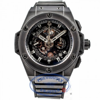 Hublot Big Bang King Power Unico 48mm Ceramic Case Skeleton Dial Black Rubber Strap Watch 701.CI.0110.RX Beverly Hills Luxury Watch Store