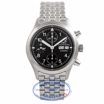 IWC Pilot Chronograph Black Dial Stainless Steel IW370607 C3U1IC - Beverly Hills Watch Company Watch Store