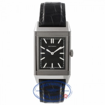Jaeger Le Coultre Reverso Grande Ultra Thin Black Dial Leather Strap 1931 Q2788570 KBPW2T - Beverly Hills Watch Store