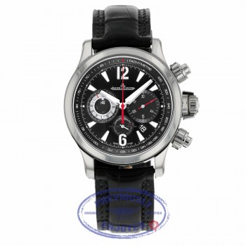 Jaeger LeCoultre 41.5mm Master Compressor Chronograph Black Galvanic Dial 1758421 PEXMPV - Beverly Hills Watch
