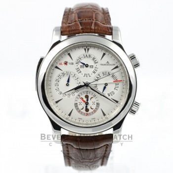 Jaeger LeCoultre Watch Master Grande Reveil Perpetual Calendar Moonphase Alarm 163.84.2a Beverly Hills Watch Company Watches