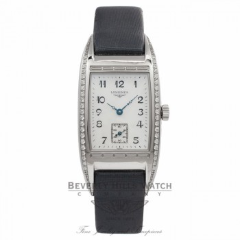 Longines Bella Arti Stainless Steel Diamond Bezel Mother of Pearl Dial Ladies Watch L25010833 Beverly Hills Watch Company Watches