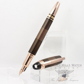 Montblanc Starwalker Red Gold Metal Fountain Pen 106867 Beverly Hills Watch Company Pen Store