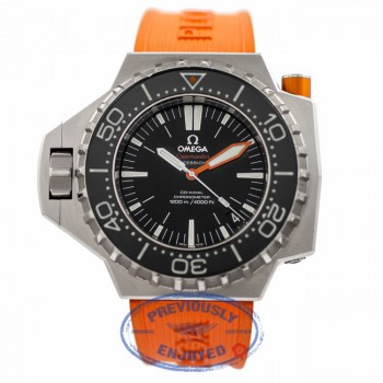 Omega Seamaster Professional Ploprof Stainless Steel Black Dial Orange Rubber Strap 224.30.55.21.01.001 FMJMH6 - Beverly Hills Watch Company Watch Store