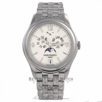 Patek Philippe Complications Annual Calendar 39MM White Gold Cream Dial 5146/1G-001 NA2ZW2 - Beverly Hills Watch Store