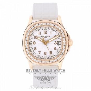 Patek Philippe Aquanaut Luce Rose Gold Diamond Bezel 5068R-010 8EL64K - Beverly Hills Watch Company