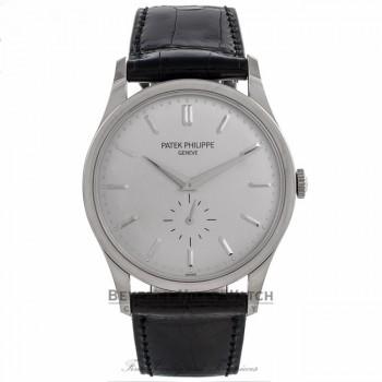Patek Philippe Calatrava 37MM 18k White Gold Automatic Silver Dial 5196G-001 N7HCXJ - Beverly Hills Watch Company