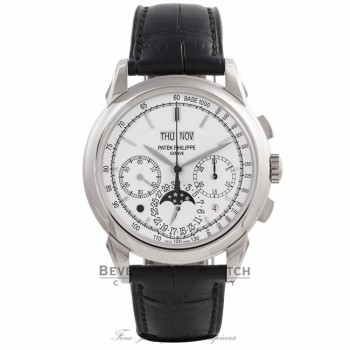 Patek Philippe Grand Complication 18K White Gold Perpetual Calendar Chronograph Moonphase 5270G-013 - Beverly Hills Watch Company Watch Store