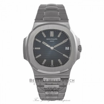 Patek Philippe Nautilus 43MM Stainless Steel Automatic Blue Dial 5711/1A-010 A98Z23 - Beverly Hills Watch Company Watch Store
