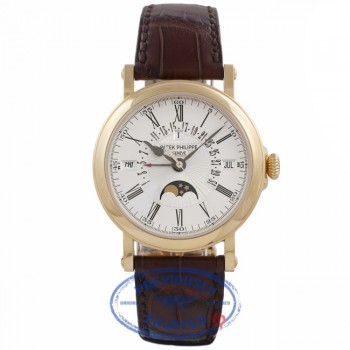 Patek Philippe Perpetual Calendar Retrograde 18k Yellow Gold Silver Dial 5159J 18747 - Beverly Hills Watch Company Watch Store