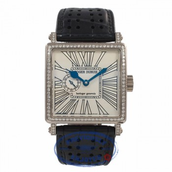 Roger Dubuis Golden Square White Gold Diamond Bezel G34980SDC3.73 Beverly Hills Watch Company