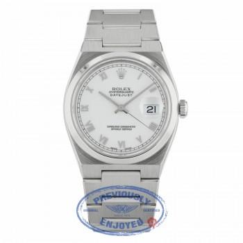 Rolex Datejust Quartz 36mm Stainless Steel White Dial Roman Numerals 17000A F8KX26 - Beverly Hills Watch