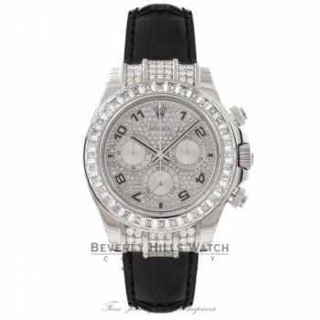 Rolex Daytona 40MM 18K White Gold Diamond Bezel 116599 WPNDCN - Beverly Hills Watch Store