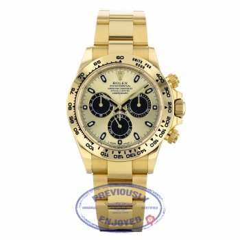 """Rolex Oyster Perpetual Cosmograph Daytona """"Paul Newman"""" Yellow Champagne Dial Black Sub-dials 116508 TR1P00 - Beverly Hills Watch"""