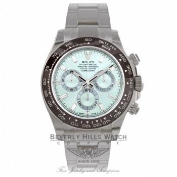 Rolex Daytona 40MM Platinum Chestnut Brown Monobloc Cerachrom Bezel Ice Blue Diamond Dial 116506 D9TM13 - Beverly Hills Watch Company Watch Store