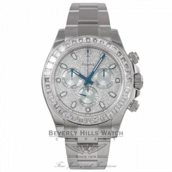 Rolex Cosmograph 40MM Daytona Diamond Pave Dial Platinum 116576TBR JX58L4 - Beverly Hills Watch Store