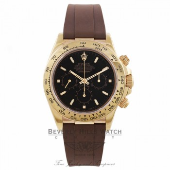 Rubber B Brown Rubber Strap for Rolex Yellow Gold Daytona M101-BR