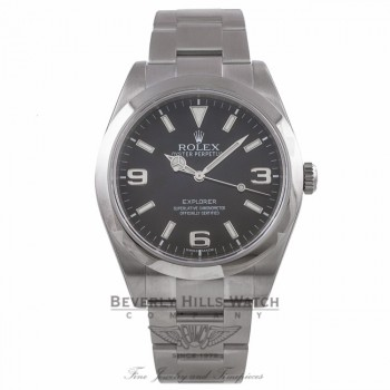 Rolex Explorer 39mm Stainless Steel Black Dial Watch 214270 1CY54F - Beverly Hills Watch Company Watch Store