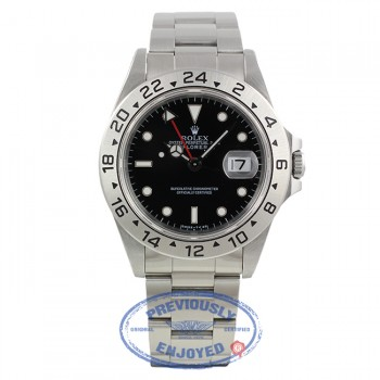 Rolex Explorer II Black Dial Stainless Steel 40MM Classic 16570 F90Y79 - Beverly Hills Watch Company