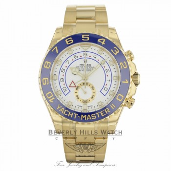 Rolex Yacht-Master II 18k Yellow Gold 90 Degree Rotatable Blue Ceramic Ring Command Bezel 116688 CKR0ER - Beverly Hills Watch Company Watch Store