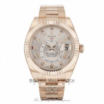 Rolex Sky Dweller Rose Sundust Dial Everose Gold 326935 8JETAF - Beverly Hills Watch Company