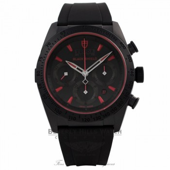 Tudor Fastrider Blackshield Chronograph 42MM Monobloc Matt Black Ceramic Case Black Dial 42000CR L9WUXT - Beverly Hills Watch Company Watch Store