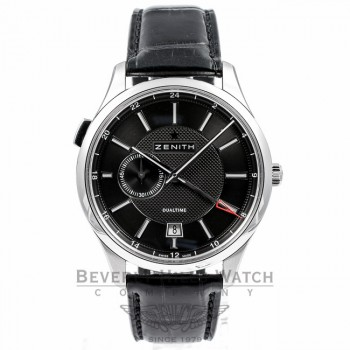 Zenith Captain Elite Dual Time GMT Watch 03.2130.682.22.C493 Beverly Hills Watch Company