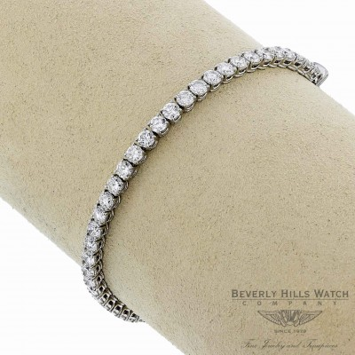 18K White Gold Diamond Tennis 45 Diamonds Bracelet 8563-182-775 HDXRU3 - Beverly Hills Watch