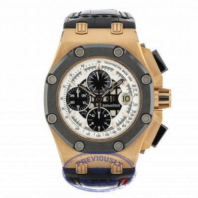 Audemars Piguet Rubens Barrichello II Rose Gold 26078RO.OO.D002CR.01 LFJC3Q - Beverly Hills Watch Company