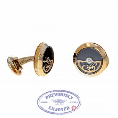 Breguet Rotor Cufflinks Rose Gold Chocolate Enamel 9907BREC DYHHHX