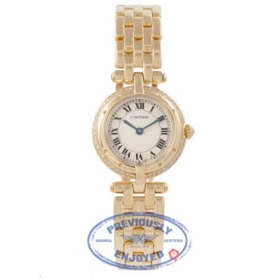 Cartier Panthere 18k Yellow Gold Diamond Bezel White Dial MFSXAI - Beverly Hills Watch Company Watch Store