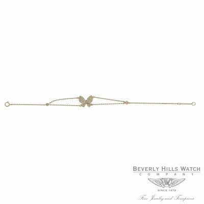 Butterfly Diamond Bracelet Yellow Gold Y2JZQ3 - Beverly Hills Watch