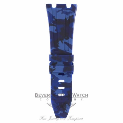Horus Navy Blue Camouflage Rubber Audemars Piguet 42mm Strap A1R7UC - Beverly Hills Watch