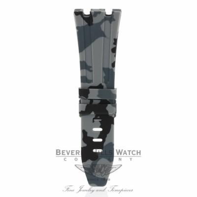 Horus Graphite Rubber Strap for Audemars Piguet 42mm Tang Buckle U4XH2R U4XH2R - Beverly Hills Watch Company