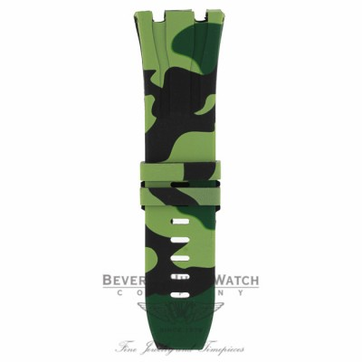 Horus green camouflage rubber strap Audemars Piguet 44mm X41F82 - Beverly Hills Watch