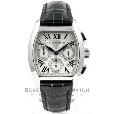 Girard Perregaux Richeville Chronograph Stainless Steel Watch 27650-0-11-1131 Beverly Hills Watch Company