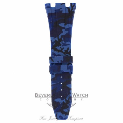 Horus Navy Blue Camouflage Rubber Audemars Piguet 42mm Strap PA7Y9A PA7Y9A - Beverly Hills Watch Company