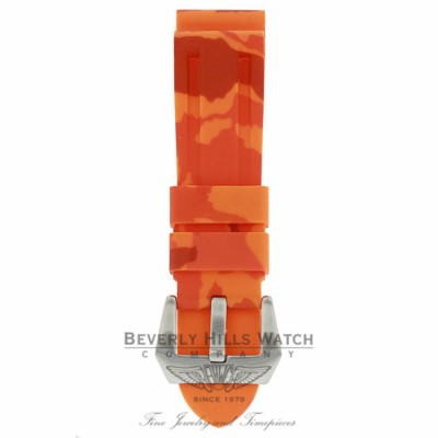 Horus Orange Camouflage Rubber Panerai Luminor 44mm Straps D53N2D D53N2D - Beverly Hills Watch Company