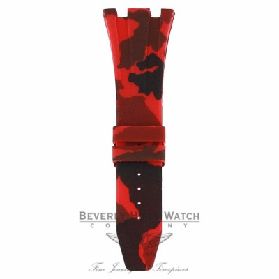 Horus Red Camouflage Rubber Audemars Piguet 42mm Strap ENAD4T - Beverly Hills Watch